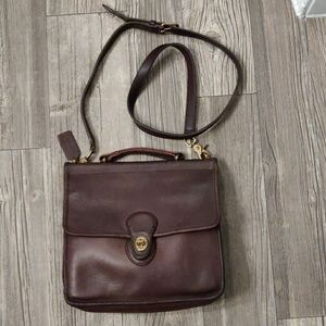 Vintage Brown Coach Willis 9927 Leather Crossbody